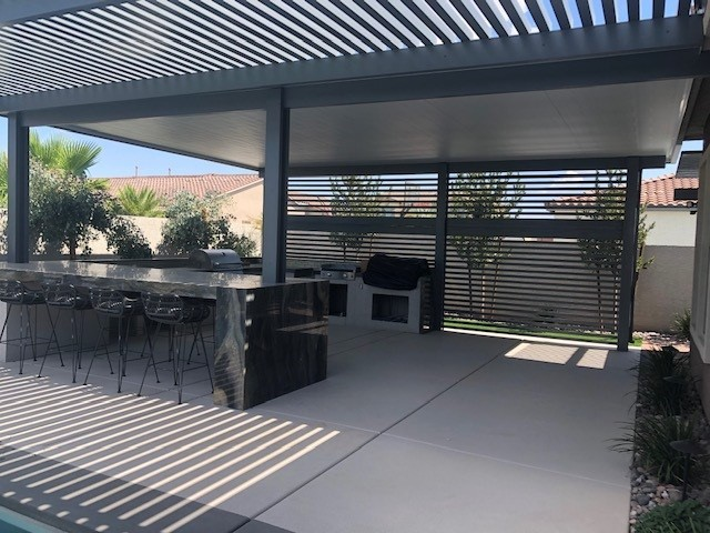 Patio Cover With Outdoor Kitchen & Bar