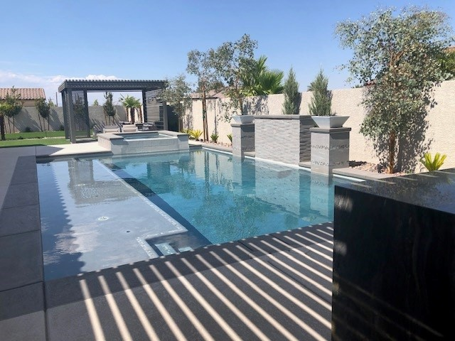 Freestanding Patio Cover Poolside